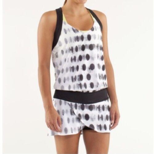 Lululemon Womens Size 2(X1) White Polka Dot Romper