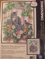 Brand New Dimensions Stamped Cross Stitch Kit- Springtime View #13133