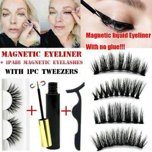 Magnetic-Liquid-Eyeliner-False-Eyelashes-Tweezer-Kit-Extension-Lashes-Waterproof