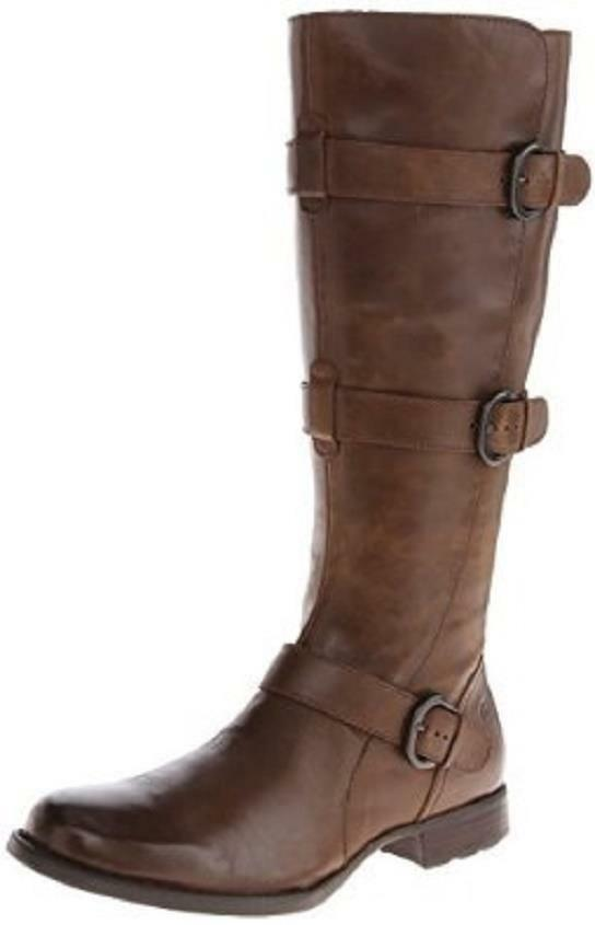 NEW  BORN CROWN 'UMBRA' SOFT LEATHER KNEE HI BOOTS TRUFFLE SIZE 5M (35.5)