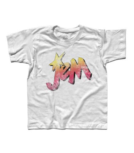 Energy The Misfits rock and roll cartoon T-shirt bambino Jem e le Holograms