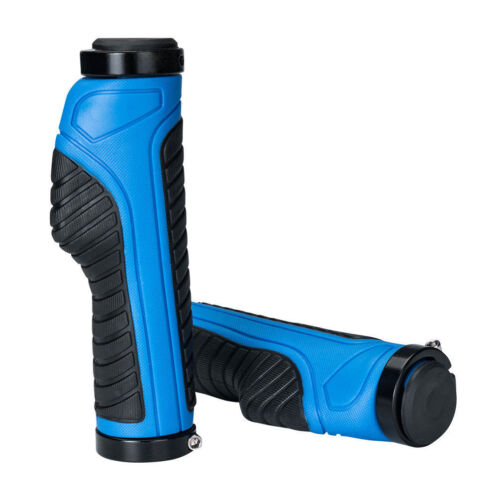 RockBros Cycling Bicycle Handlebar Grips Double Lock Non-slip Grips Blue Black