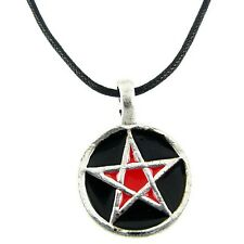 Red Pentagram Star Charm Punk Rock Pentacle Gothic Pendant Choker Goth Necklace