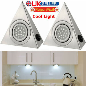 LED-MAINS-KITCHEN-UNDER-CABINET-CUPBOARD-TRIANGLE-LIGHT-LIGHTING-KIT-COOL-WHITE