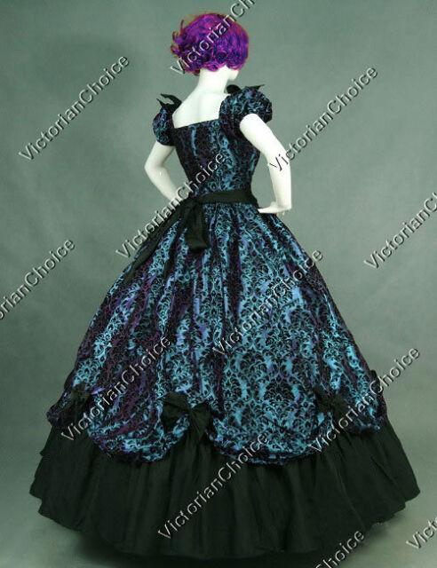 Victorian Belle Fantasy Dress Ball Gown Princess Halloween Costume N ...
