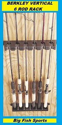 BERKLEY VERTICAL 6 ROD RACK Fishing Rod Holder NEW! #BAVRR FREE USA SHIPPING!