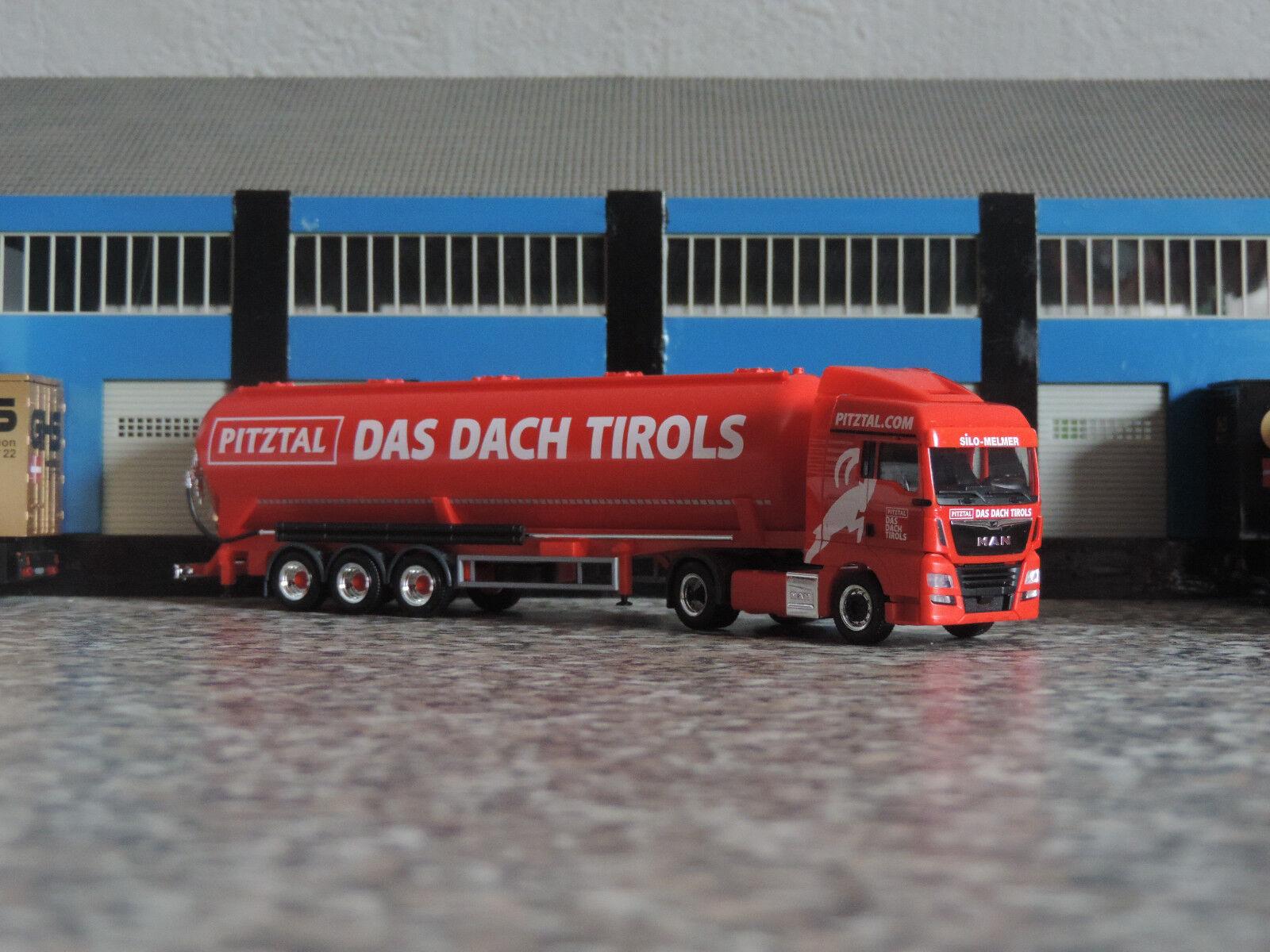 Herpa 1 87 - 308502 - MAN TGX E6c XLX 5-achs Kippsilosattelzug -  Melmer Tirol   | Produktqualität