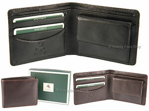 8d55a512e6f4 Visconti Mens RFID Blocking Leather Wallet For Cards Banknotes Coins ...
