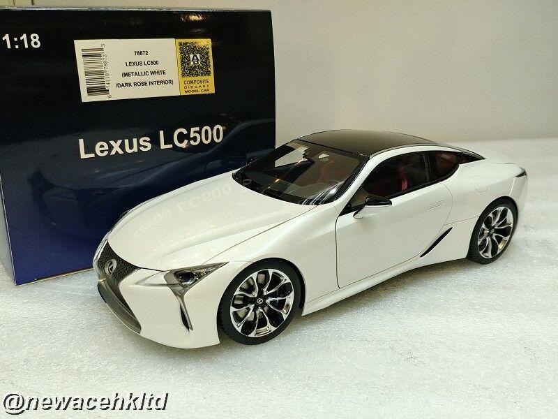 Lexus LC 500 (Métallique Blanc Foncé Rose Intérieur) AutoArt MODEL 1 18  78872