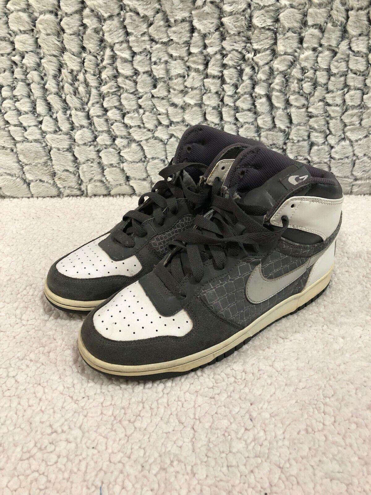 Nike grande nike alte scarpe scarpe scarpe grigio scuro   argentoo metallico 336608-002 uomini sz 8,5 | Exquisite (medio) lavorazione  | Il materiale di altissima qualità  0a51d4