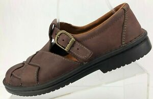 Josef-Seibel-Loafers-T-Strap-Brown-Leather-Comfort-Casual-Shoes-Womens-40-9-9-5