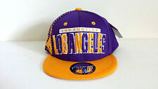 KIDS LOS ANGELES 3D EMBROIDERED FLAT BILL (PURPLE/YELLOW) COTTON SNAPBACK CAP