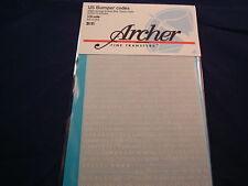 ARCHER FINE TRANSFERS US BUMPER CODES WWII  KOREA  STENCIL STY AR35066 1:35 NEW