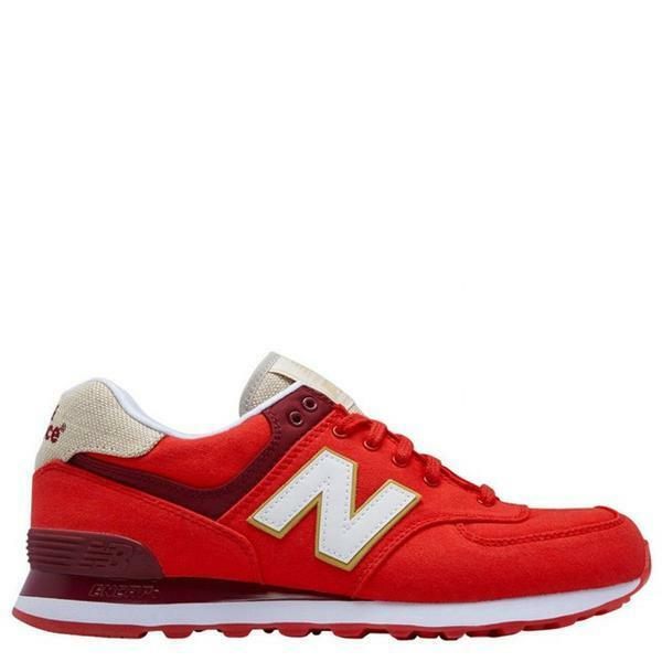 New Balance ML574RTC Red Burgundy Casual  Uomo Shoes