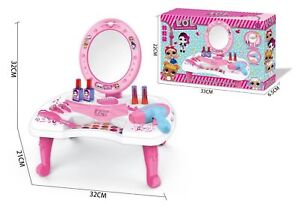 sneakers for cheap 872b2 99304 Details about Girls Role Play Set LOL Dressing Table with Mirror Stool  Vanity Desk Makeup Toys