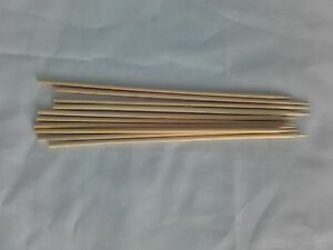 BBQ 1000 x 8 inch WOODEN BAMBOO SKEWERS STICKS FOR KEBAB PARTY FRUIT STICKS
