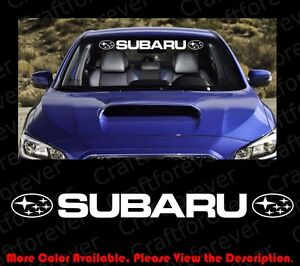 SUBARU WRX STI Windshield Racing Sports Vinyl Car Window Decal - Car window decal stickers sports