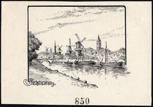 Art Antique Drawing-schiedam-view-netherlands-item 850-fernand Lantoine-1900