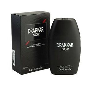 Drakkar-Noir-Guy-Laroche-Men-3-4-oz-100-ml-Eau-De-Toilette-Spray-Box-Sealed