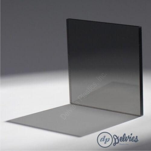 "1//4/"" 2064 Transparent Light Gray Cell Cast Acrylic Sheet  24/"" x 24/"""
