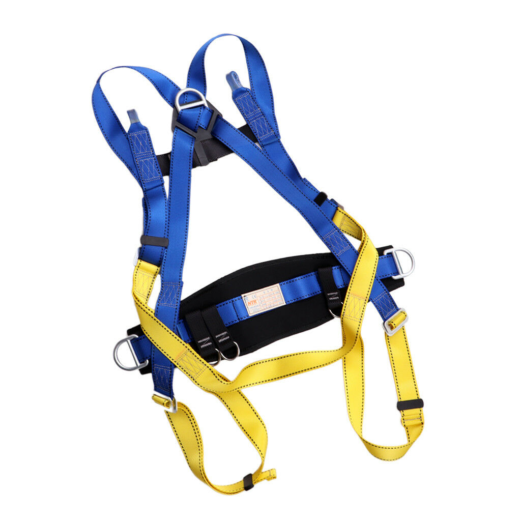 Outdoor Climbing Safety Belt Full Body Seat Strap Harness Rappelling Roofing