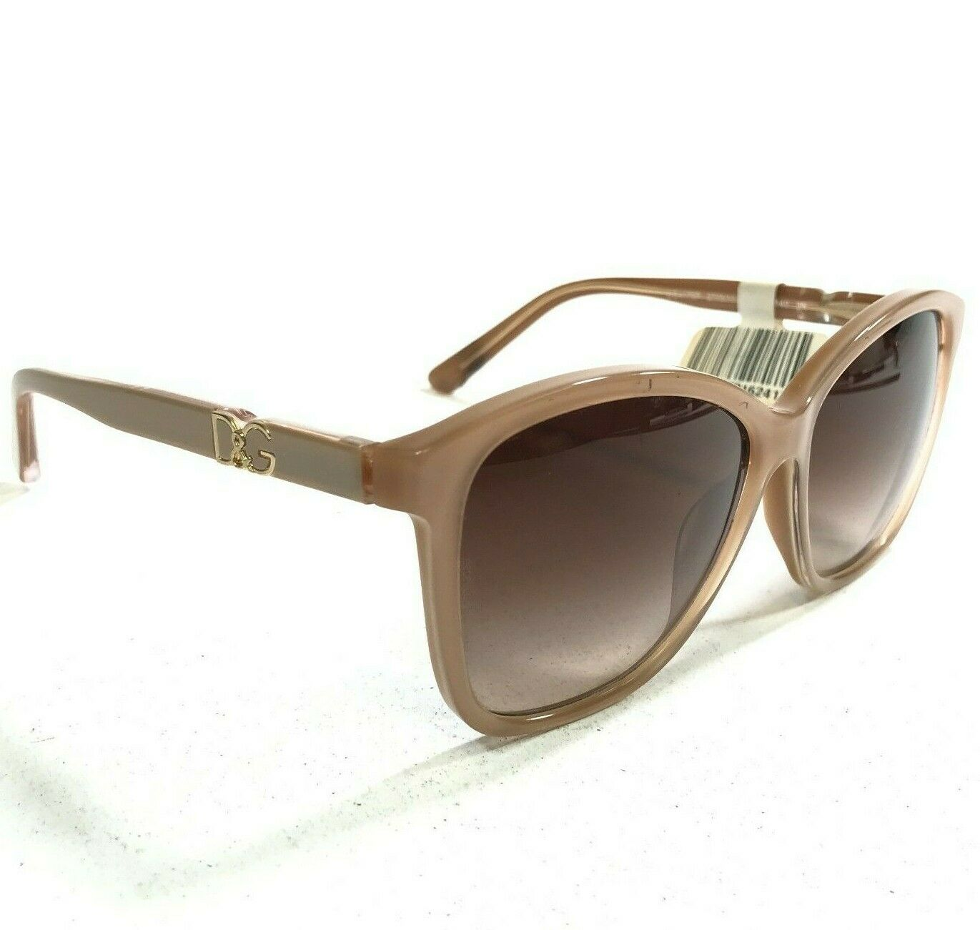 Dolce & Gabbana Sunglasses DG4170P 2773/13 Clear Brown Beige Cat Eye Logos *