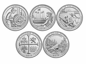 2016 P/&D NATIONAL PARK QUARTERS 10 COIN SET from US Mint Rolls