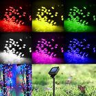 Solar Powered 60/100/200 LED String Fairy Lights Garden Outdoor Xmas Party Lamp