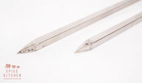 1 Metre PROFESSIONAL CATERING SKEWERS TANDOOR KEBAB PACK OF FOUR 5mm thick