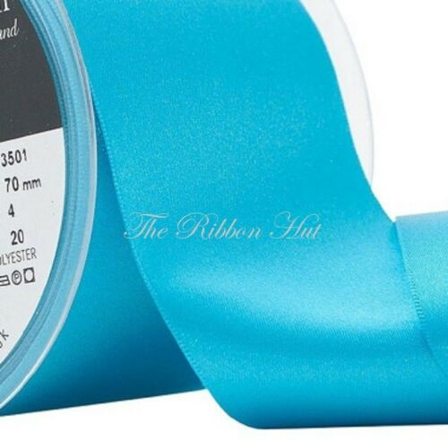 35//50//70mm-Berisfords-1M//2M-Wedding,Sashes Double Satin Ribbon-WIDE BLUES
