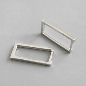 Klapp-Creolen-Rechteck-echt-Sterling-Silber-925-Damen-Kreolen-Ohrringe