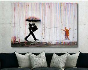 BANKSY-Coloured-Rain-Canvas-Wall-Art-Print
