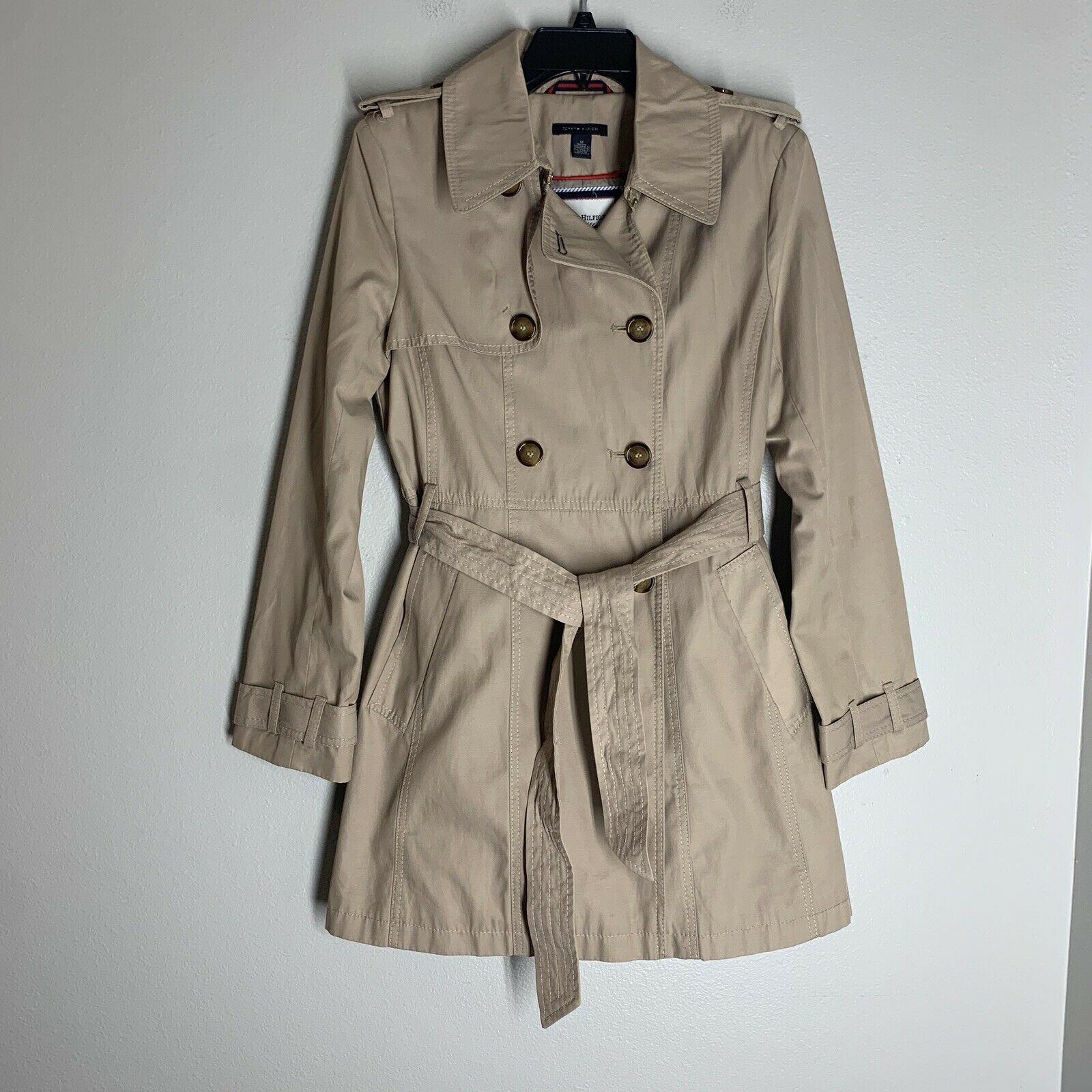 Tommy Hilfiger Womens Plus-Size Trench Coat