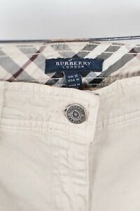 Burberry-London-Womens-Size-10-Beige-Pants-Nova-Check-Straight-Leg-Denim-Jeans
