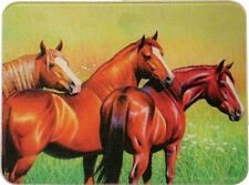 """Glass Horses Cutting Board Hot Pad Kitchen Country Style Decor 12 x 16"""""""