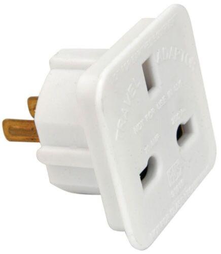 nz Voyage adaptateur convertisseur Plug Blanc Nouveau POWERPLUS UK Europe à US australia