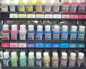 Pintura Para Tela Vallejo 60ml 36 Colores Opacos Y Semiopacos