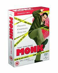 1 of 1 - Monk - Series 2 - Complete (DVD, 2005, 4-Disc Set)