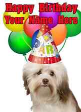 Havanese Dog Party Card codeha Birthday A5 Personalised Greeting card