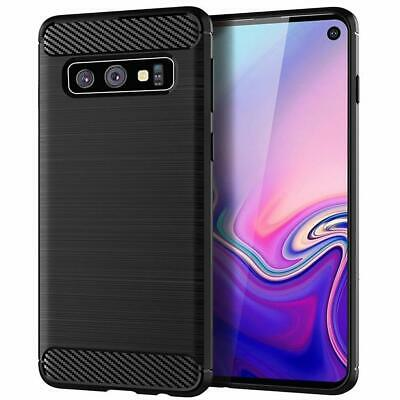 For Samsung Galaxy S10 / Plus S10e Carbon Fiber Armor Cover TPU Heavy Duty Case