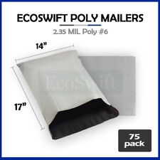 75 14x16 White Poly Mailers Shipping Envelopes Plastic Self Sealing Bags 14 X 16