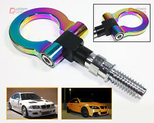 SCREW-ON NEO CHROME ALUMINUM FRONT REAR BUMPER RACING STYLE TOW HOOK FOR BMW