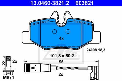 HA 13.0460-3821.2 pour MERCEDES-BENZ VITO//MIXTO UAT Bremsbelagsatz Essieu Arrière