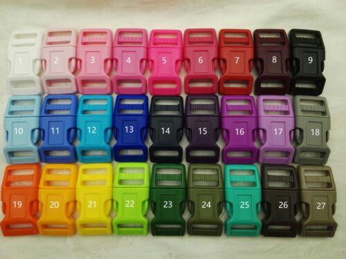 """20 mm collier de chien Courbé Side Release Plastique Boucles-Multi color 50x 3//4/"""""""