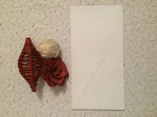 VARIOUS COLOURS AND SIZES SET OF 10 ENVELOPES CARD MAKING