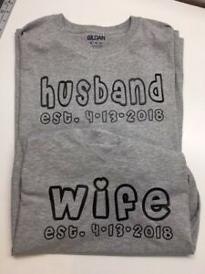 a78c009d00972 Details about Wedding shirts, couples matching shirts, custom bride and  groom t shirt est date