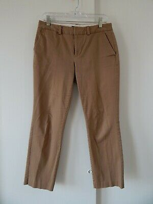Lands End Womens Fit 2 Mid Rise Stretch Chino Trousers Black New*