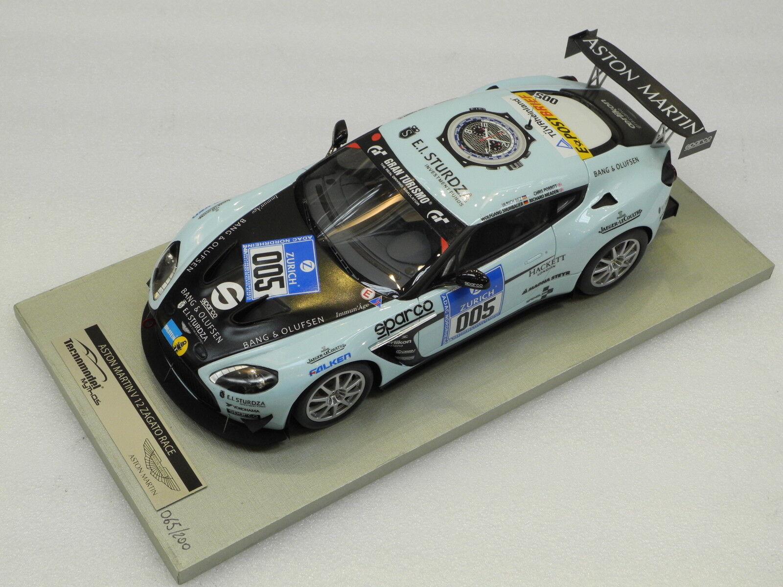 TECNOMODEL 1 18 Aston Marin V12 Zagato race 2012 24 h Du Nürburgring  005 TM18-01