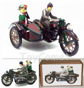 MS804-Motorcycle-with-Passenger-in-Sidecar-Retro-Clockwork-Wind-Up-Tin-Toy-w-Box
