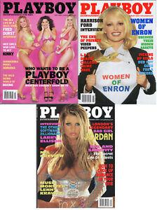 PLAYBOY-2002-Lot-of-3-Women-Of-Enron-Nice-Girls-Acting-Kinky-Larry-Ellison-Intvw